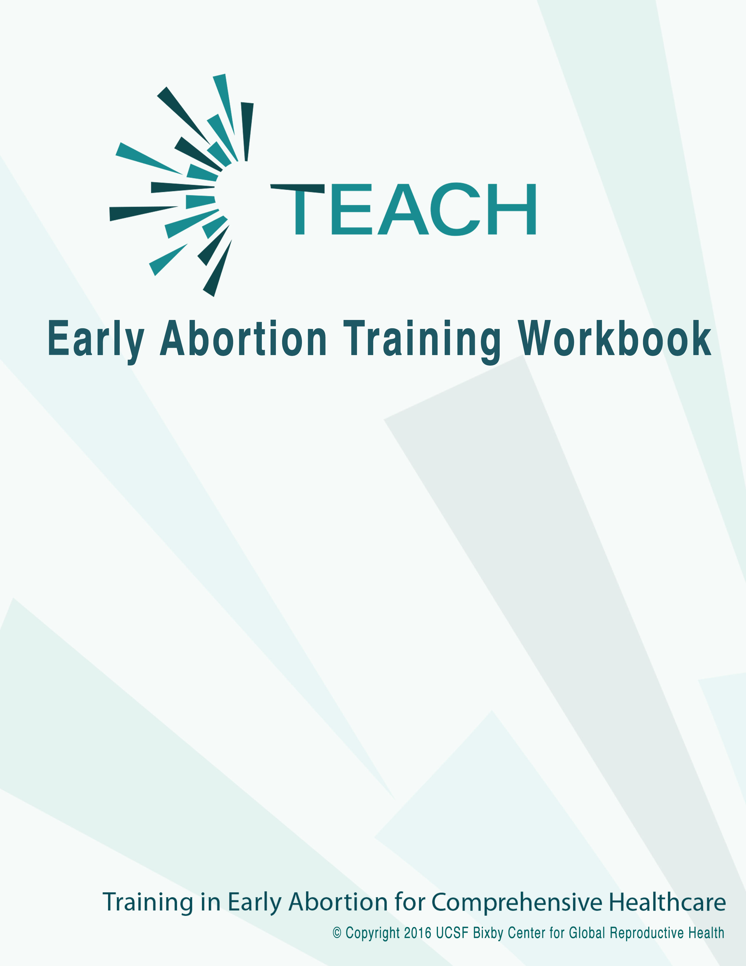 Cover image for Early Abortion Training Workbook